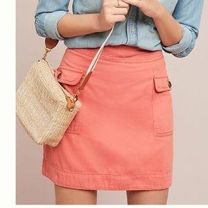 Anthropologie Utility Mini Skirt